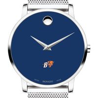 Bucknell University Men's Movado Museum with Blue Dial & Mesh Bracelet
