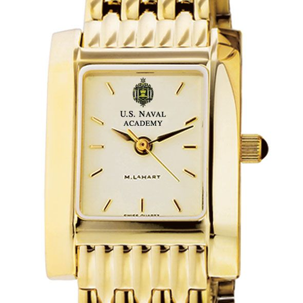 USNA Women's Gold Quad Watch with Bracelet