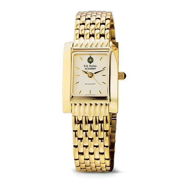USNA Women's Gold Quad Watch with Bracelet - Image 2