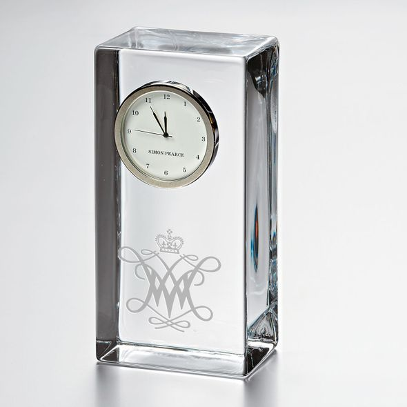 William & Mary Tall Glass Desk Clock by Simon Pearce