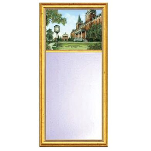 Holy Cross Eglomise Mirror with Gold Frame