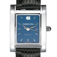 UNC Women's Blue Quad Watch with Leather Bracelet