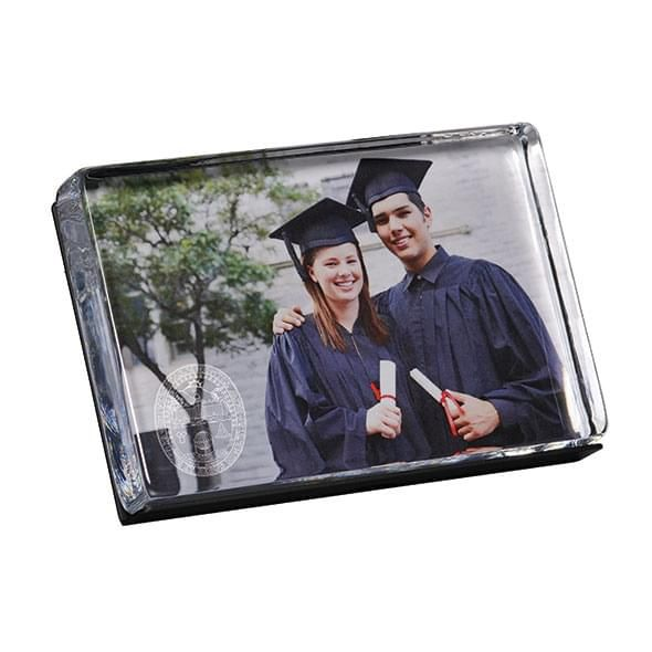 UVM Glass Photo Block by Simon Pearce