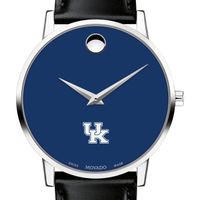 University of Kentucky Men's Movado Museum with Blue Dial & Leather Strap