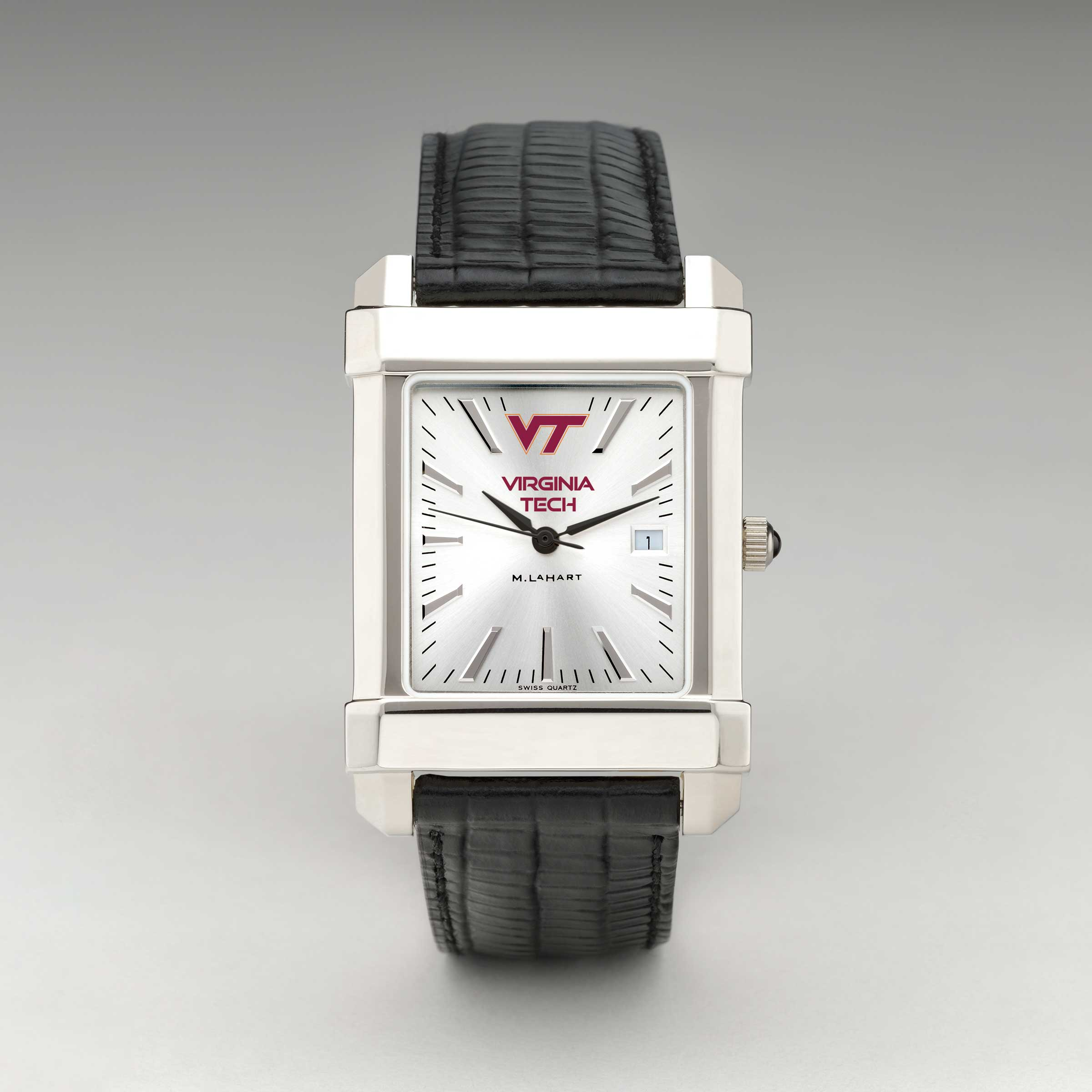 Virginia Tech Men's Collegiate Watch with Leather Strap - Image 2
