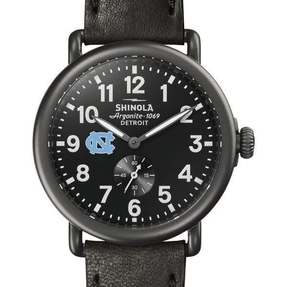 UNC Shinola Watch, The Runwell 41mm Black Dial