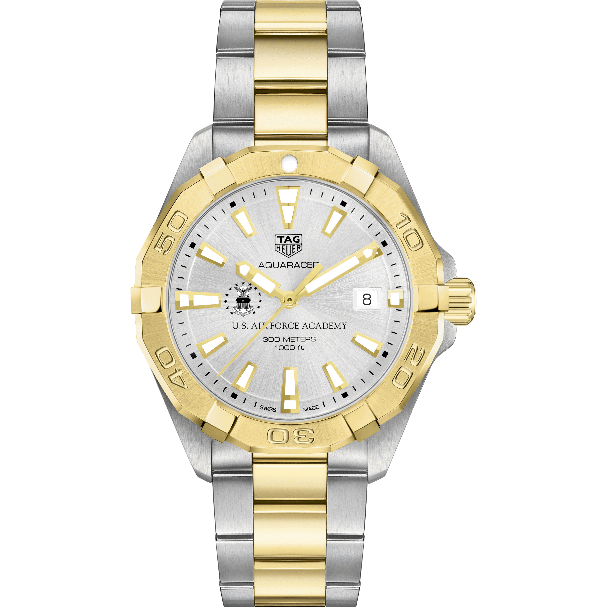 Air Force Academy Men's TAG Heuer Two-Tone Aquaracer - Image 2