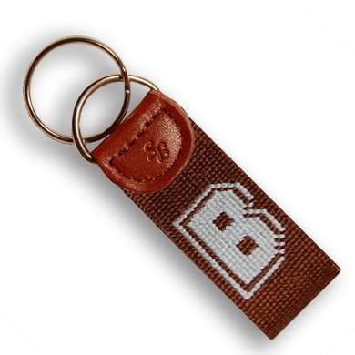 Brown Cotton Key Fob
