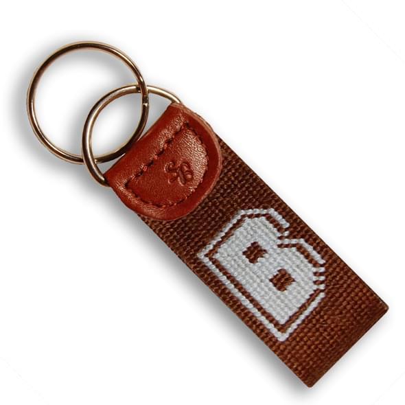 Brown Cotton Key Fob - Image 2
