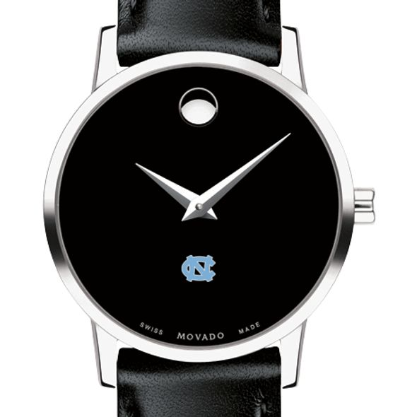 UNC Women's Movado Museum with Leather Strap