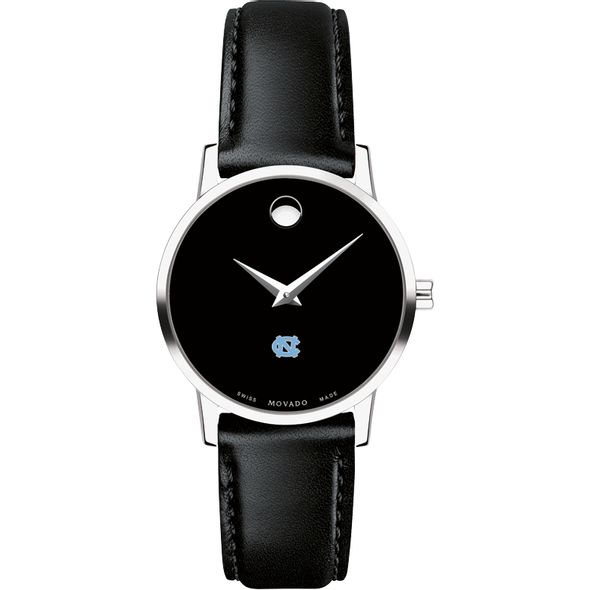 University of North Carolina Women's Movado Museum with Leather Strap - Image 2