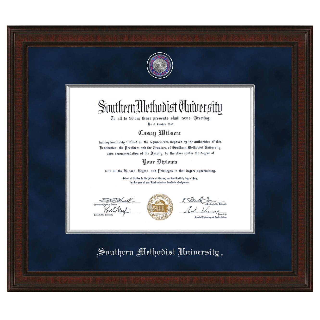 Southern Methodist University Diploma Frame - Excelsior | Graduation ...