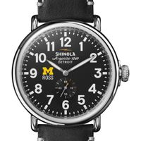 Michigan Ross Shinola Watch, The Runwell 47mm Black Dial