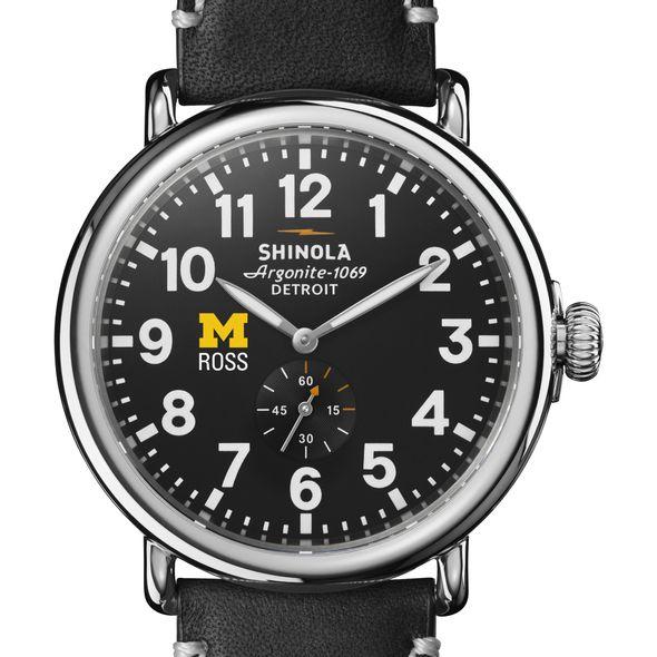 Michigan Ross Shinola Watch, The Runwell 47mm Black Dial - Image 1