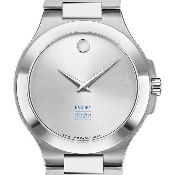 Emory Goizueta Men's Movado Collection Stainless Steel Watch with Silver Dial - Image 1
