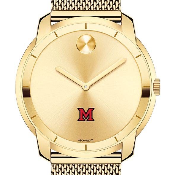 Miami University Men's Movado Gold Bold 44 - Image 1