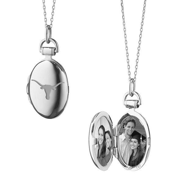University of Texas Monica Rich Kosann Petite Locket in Silver - Image 2