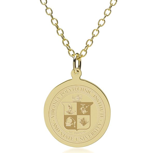 Virginia Tech 14K Gold Pendant & Chain