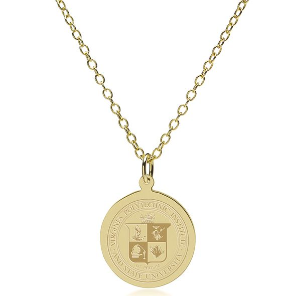 Virginia Tech 14K Gold Pendant & Chain - Image 2