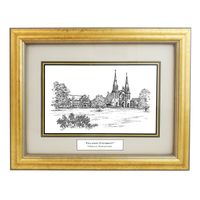 Framed Pen and Ink Villanova University Print