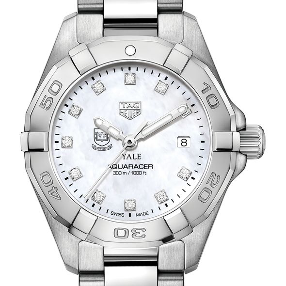 Yale University W's TAG Heuer Steel Aquaracer w MOP Dia Dial