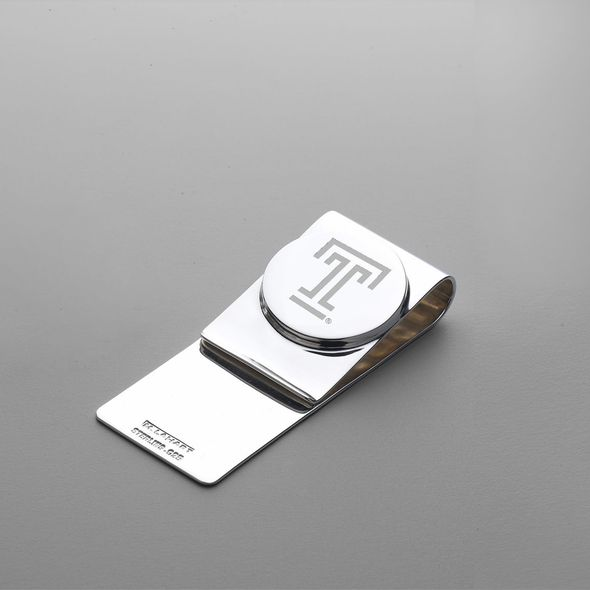Temple Sterling Silver Money Clip