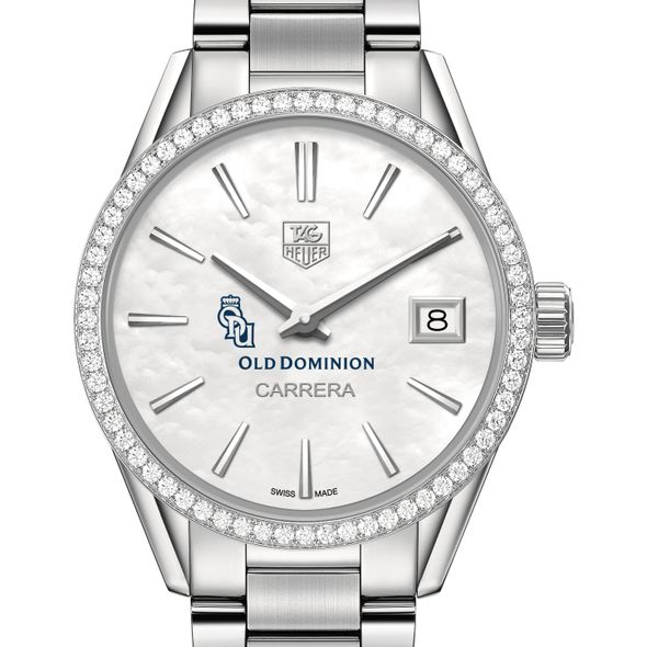 Old Dominion Women's TAG Heuer Steel Carrera with MOP Dial & Diamond Bezel - Image 1