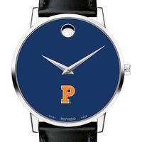 Princeton University Men's Movado Museum with Blue Dial & Leather Strap