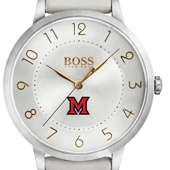 Miami University Women's BOSS White Leather from M.LaHart