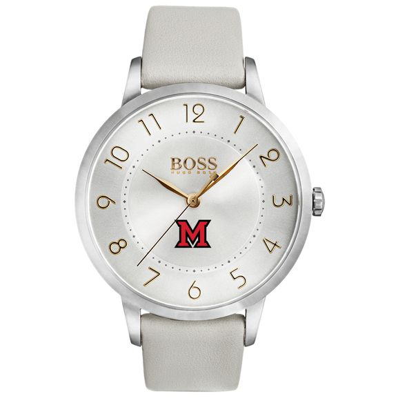Miami University Women's BOSS White Leather from M.LaHart - Image 2