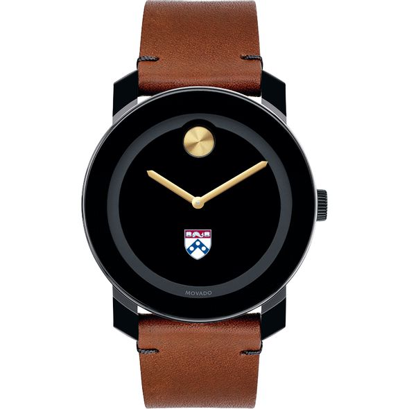 University of Pennsylvania Men's Movado BOLD with Brown Leather Strap - Image 2