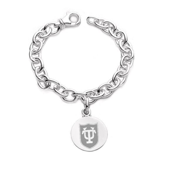 Tulane Sterling Silver Charm Bracelet