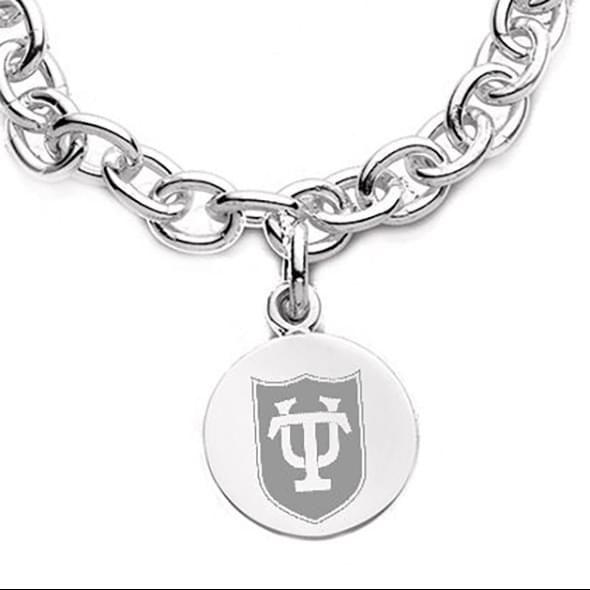 Tulane Sterling Silver Charm Bracelet - Image 2