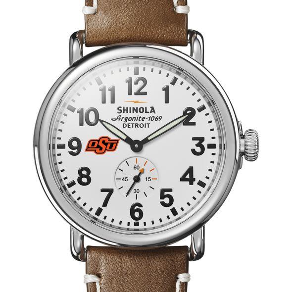 Oklahoma State Shinola Watch, The Runwell 41mm White Dial
