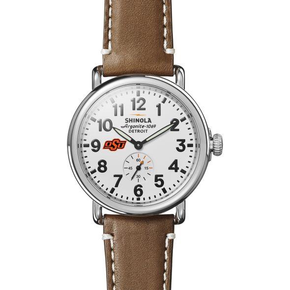 Oklahoma State Shinola Watch, The Runwell 41mm White Dial - Image 2