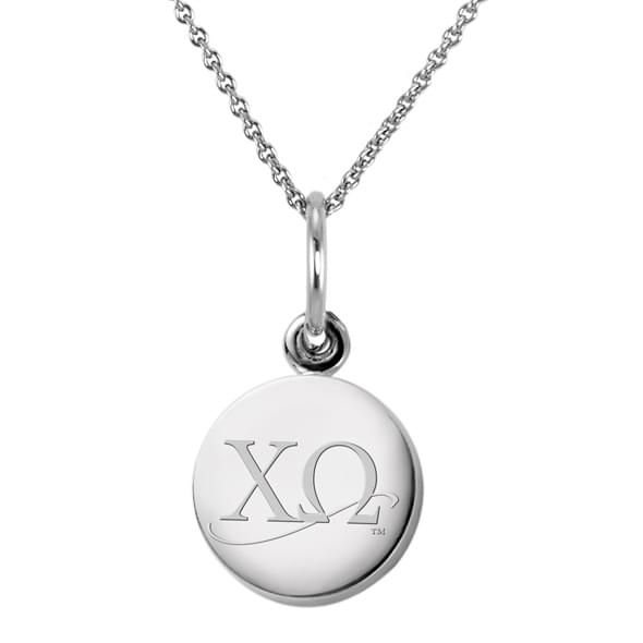 Chi Omega Sterling Silver Necklace with Silver Charm - Image 2