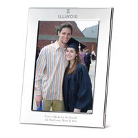 University of Illinois Polished Pewter 5x7 Picture Frame