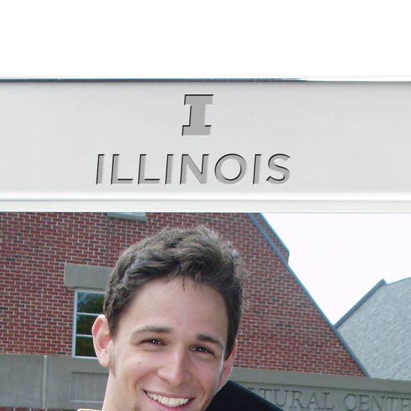 University of Illinois Polished Pewter 5x7 Picture Frame - Image 2