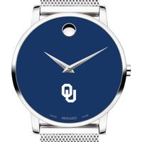 University of Oklahoma Men's Movado Museum with Blue Dial & Mesh Bracelet