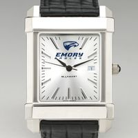 Emory Men's Collegiate Watch with Leather Strap
