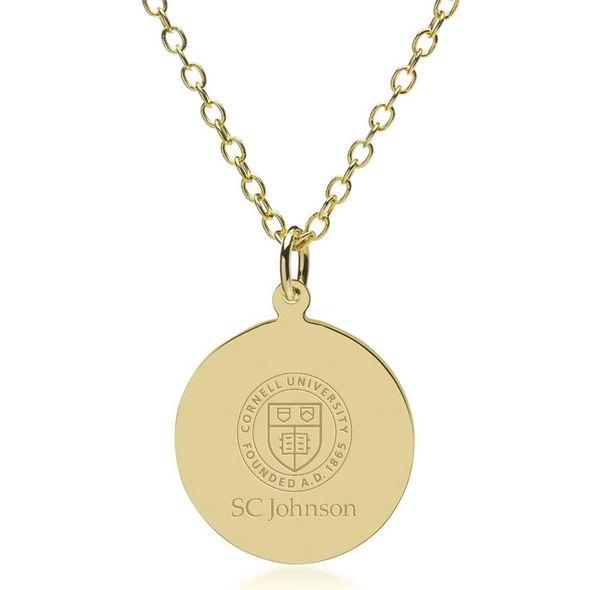 SC Johnson College 14K Gold Pendant & Chain - Image 1