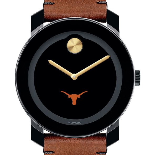 University of Texas Men's Movado BOLD with Brown Leather Strap