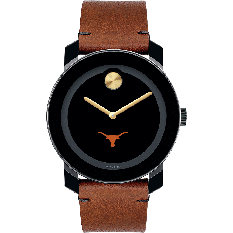Texas Men's Movado BOLD with Brown Leather Strap - Image 2