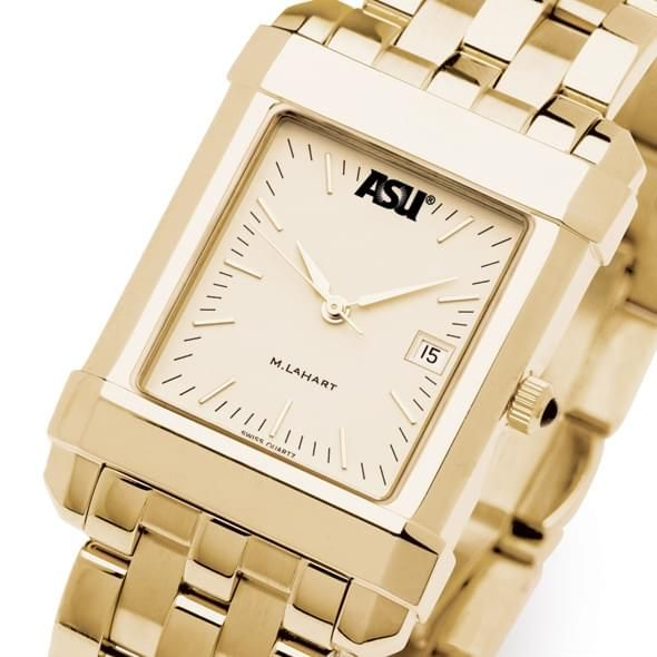 ASU Men's Gold Quad Watch with Bracelet