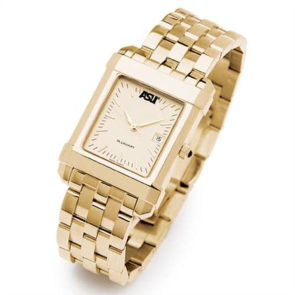 ASU Men's Gold Quad Watch with Bracelet - Image 2