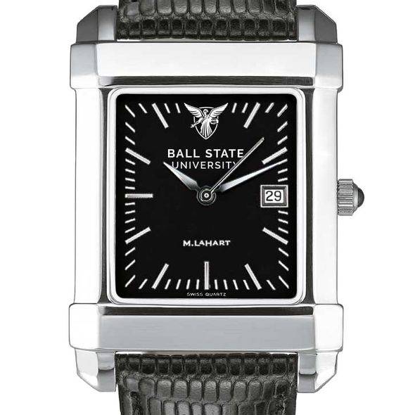 Ball State Men's Black Quad with Leather - Image 1