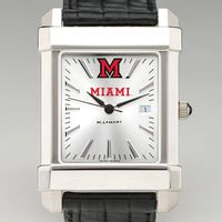 Miami University Men's Collegiate Watch with Leather Strap