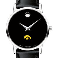 University of Iowa Women's Movado Museum with Leather Strap