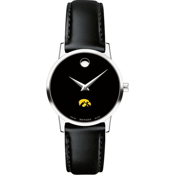 University of Iowa Women's Movado Museum with Leather Strap - Image 2