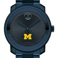University of Michigan Men's Movado BOLD Blue Ion with Bracelet